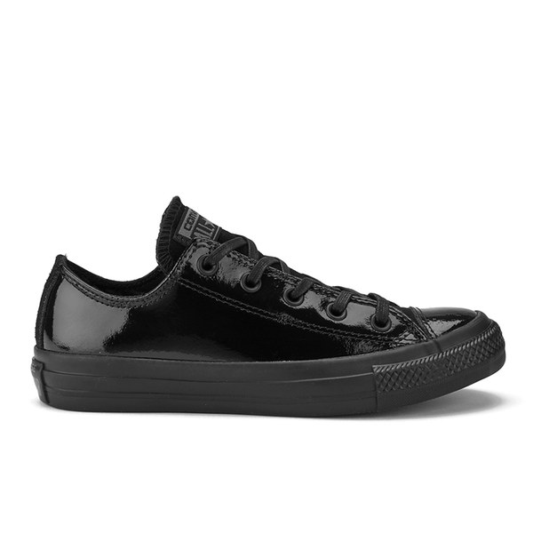 Converse Women s Chuck Taylor All Star Patent Leather Ox Trainers - Black   Image 1 4258a3219