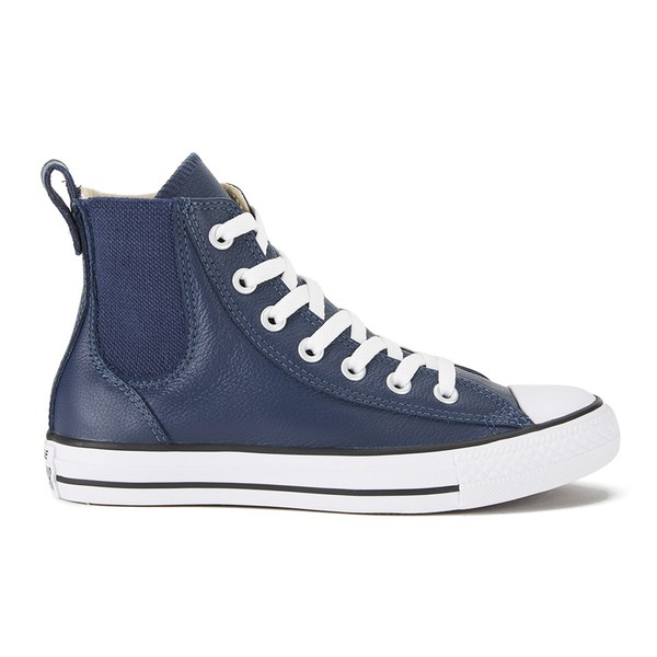 Converse Womens Chuck Taylor All Star Chelsea Season Leather HiTop  Trainers Navy