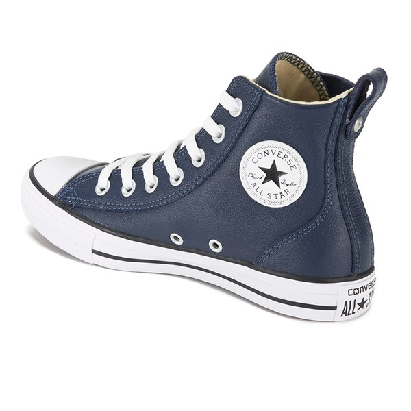 86d7fabead07 Converse Women s Chuck Taylor All Star Chelsea Season Leather Hi-Top  Trainers - Navy
