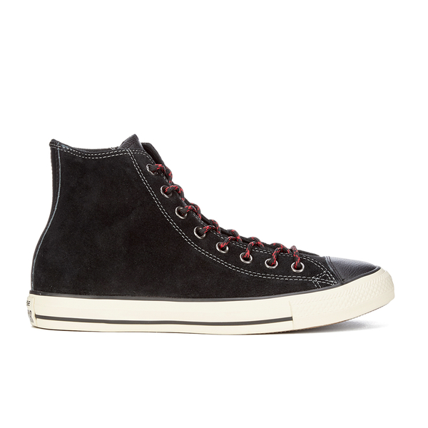 cee08afb9e41 Converse Men s Chuck Taylor All Star Suede Leather Hi-Top Trainers - Black