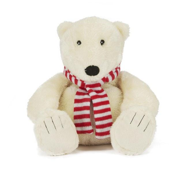 Cosy Plush Cream Polar Bear with Scarf