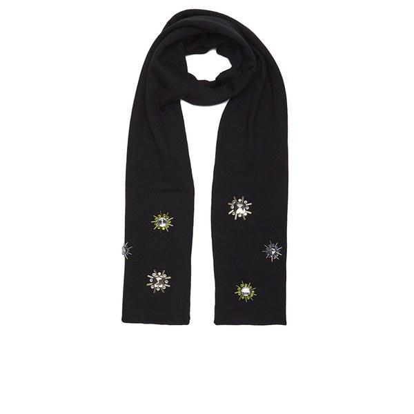 Markus Lupfer Women's Jewel Flower Scarf - Black
