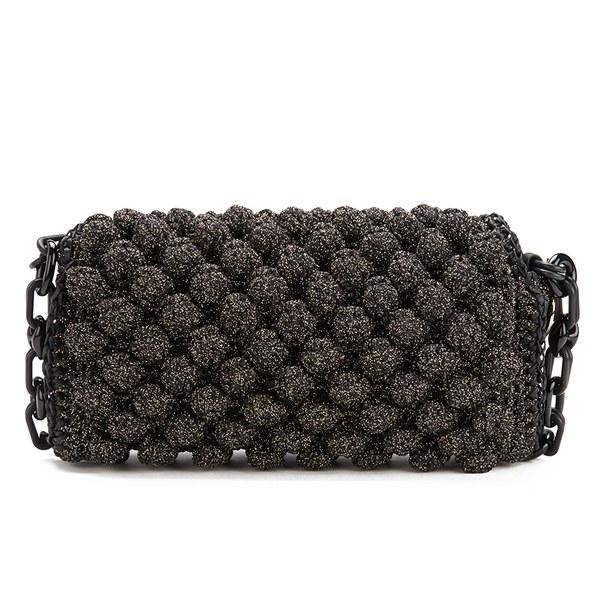 21ffcead0942 M Missoni Women s Raffia Shoulder Bag - Black  Image 5