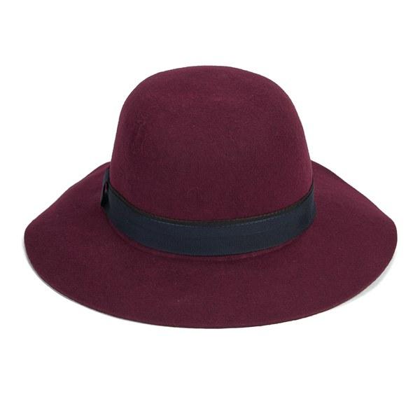 Christys  London Womens Lola Floppy Brim Hat - Maroon - Free UK ... a6c6f4063c9