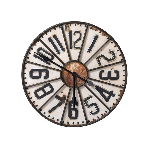 Parlane Industrial Wall Clock - White