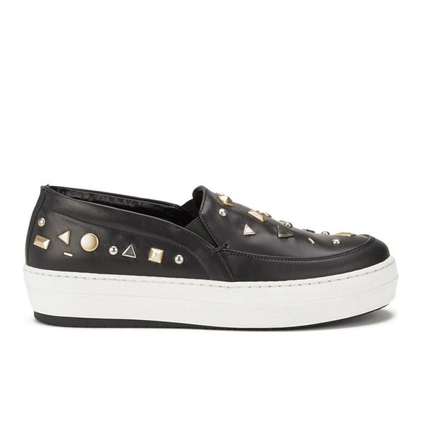 McQ Alexander McQueen Women's Fields Slip On Leather Sneakers - Black