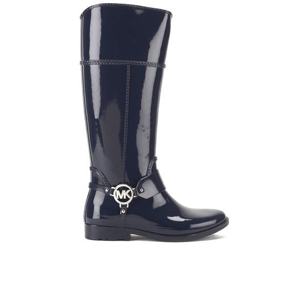 MICHAEL MICHAEL KORS Women's Fulton Harness Tall Rubber Rain Boots - Navy