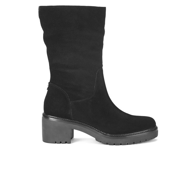 MICHAEL MICHAEL KORS Women's Whitaker Suede Cleated Sole Mid Boots - Black