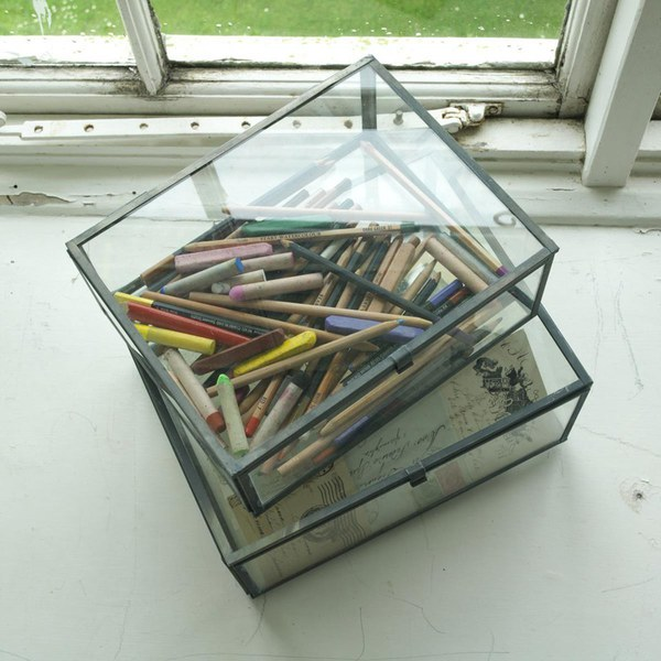 Nkuku Oni Glass Box Small Clear Free Uk Delivery