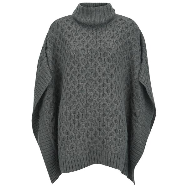 MICHAEL MICHAEL KORS Women's Texture Poncho - Grey