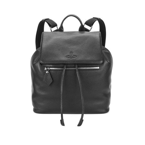 Vivienne Westwood MAN Men's Leather Backpack - Black - Free UK ...