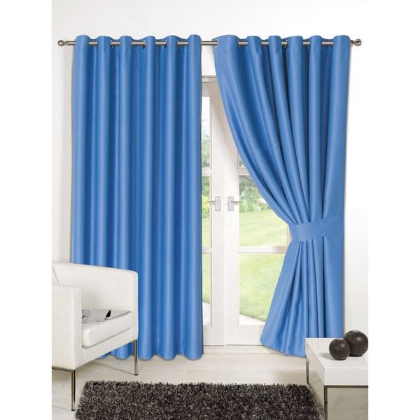 dreamscene blackout eyelet curtains blue iwoot. Black Bedroom Furniture Sets. Home Design Ideas