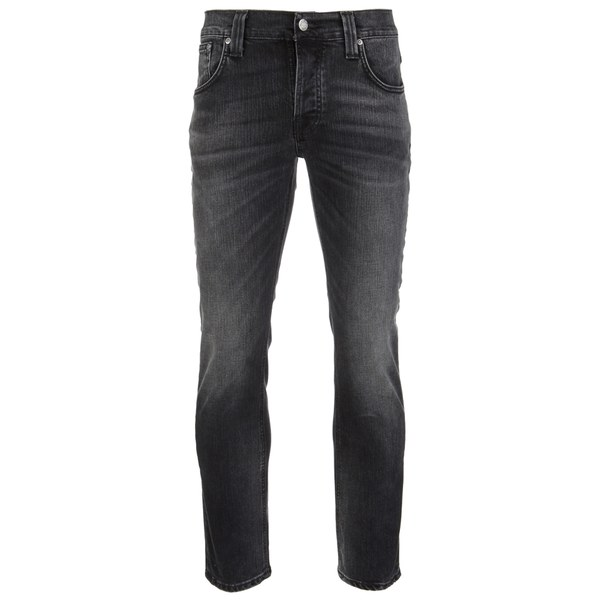 Nudie Jeans Men's Grim Tim Straight/Slim Waist Slim Leg Jeans - Black Haze
