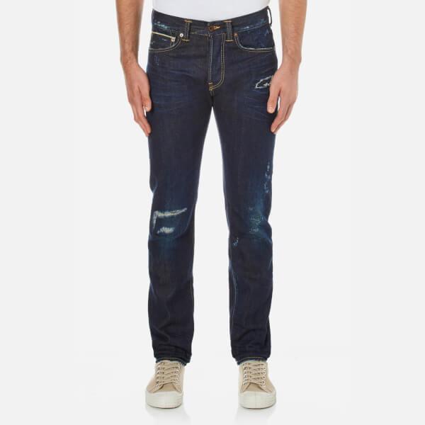 Edwin Men's ED80 Slim Tapered Rainbow Selvedge Denim Jeans - Dark Blue
