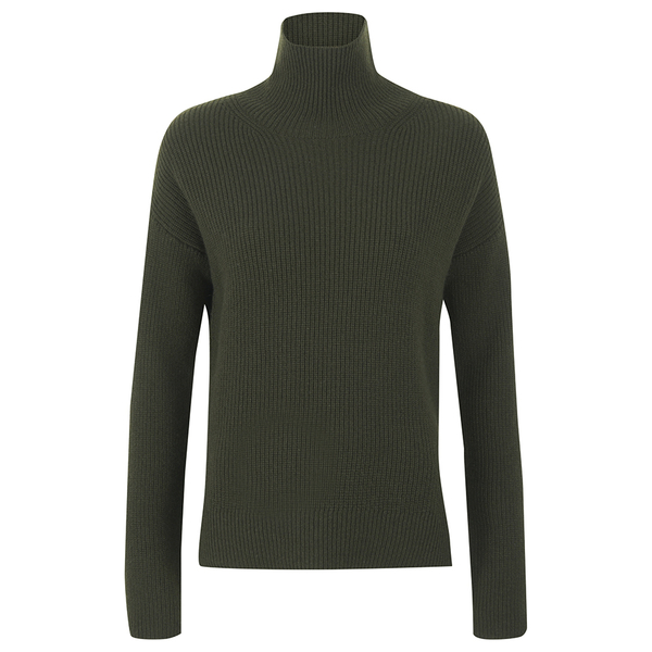 Helmut Lang Women's Turtleneck Jumper - Dark Olive