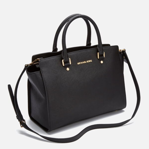b5248220dee7 MICHAEL MICHAEL KORS Women's Selma Large Satchel Bag - Black: Image 3