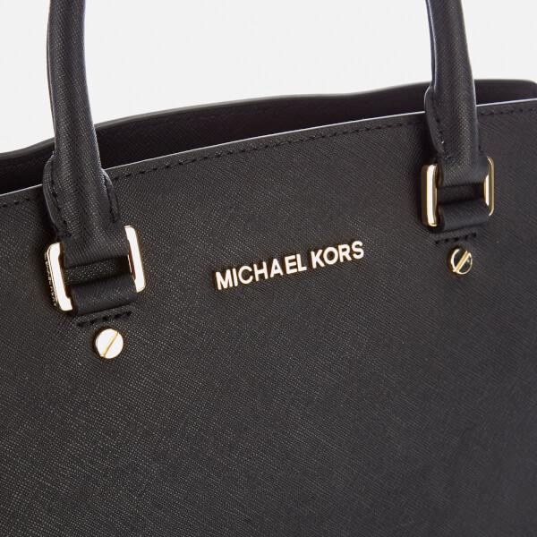 e9f99e6d327391 MICHAEL MICHAEL KORS Women's Selma Large Satchel Bag - Black: Image 4