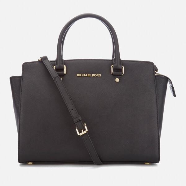 10f84bc774b2 MICHAEL MICHAEL KORS Women's Selma Large Satchel Bag - Black: Image 1