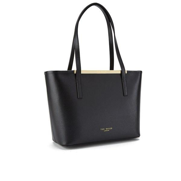 21ce9ab21 Ted Baker Women s Haileyz Zip Top Small Crosshatch Shopper Bag - Black   Image 2