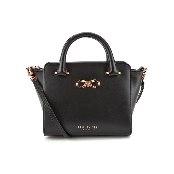 db905508a0 Ted Baker Women's Minibow Loop Bow Mini Leather Tote Bag - Black: Image 1