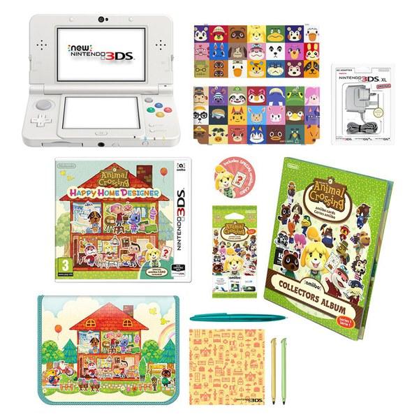 New Nintendo 3DS White + Animal Crossing: Happy Home