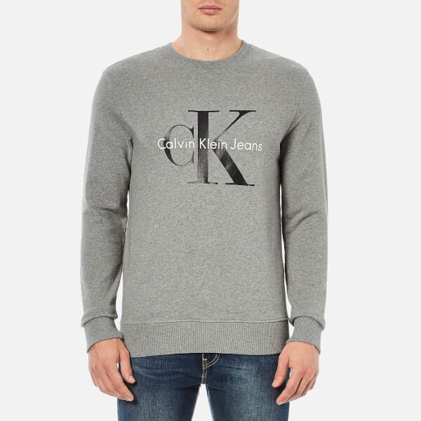 Calvin Klein Men's 90's Re-Issue Sweatshirt - Light Grey Heather
