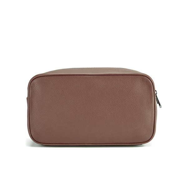 BOSS Hugo Boss Men s Monte Leather Washbag - Tan  Image 5 aaf4e51ec26b0