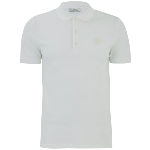 f13858bc54992 Versace Collection Men s Chest Logo Polo Shirt - White - Free UK Delivery  over £50