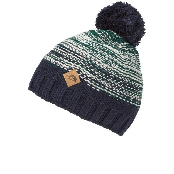 The North Face Men s Antlers Vintage Bobble Hat - High Rise Grey  Image 1 766b83708b