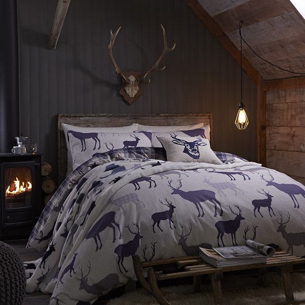 Catherine Lansfield Grampian Stag Brushed Bedding Set