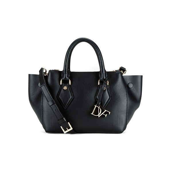 Diane von Furstenberg Women's Voyage Double Zip Satchel - Black
