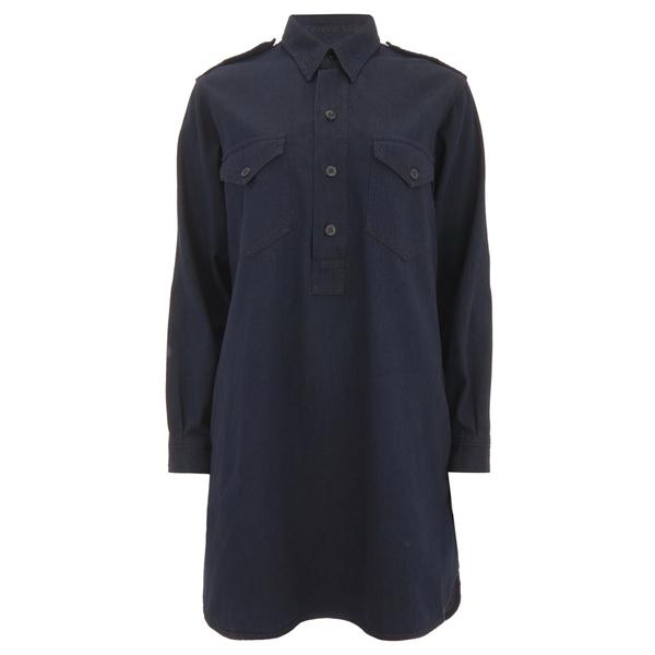 Polo Ralph Lauren Women's Military Shirt Dress - Indigo