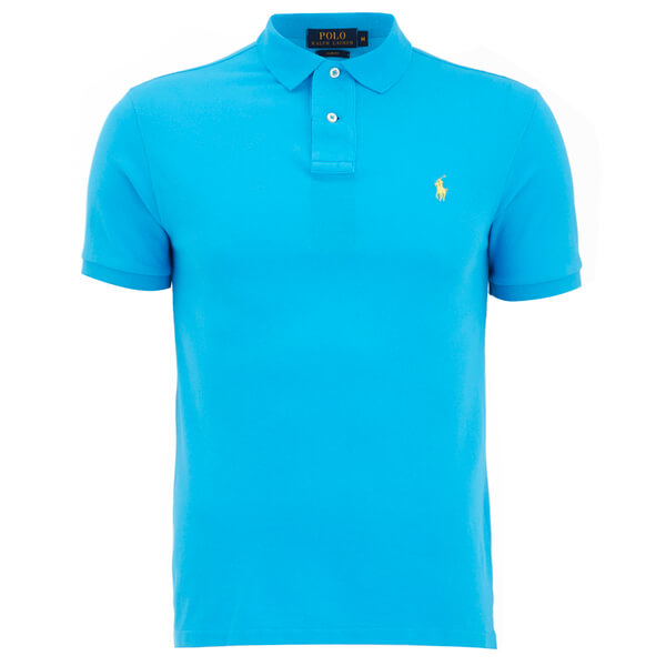 Polo Ralph Lauren Men 39 S Slim Fit Polo Shirt Cove Blue