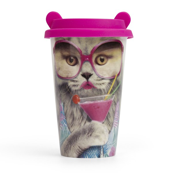 Coffee Crew Ceramic Cup - Cat