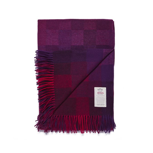 Avoca Spectrum Throw - Berry (142cm x 100cm)