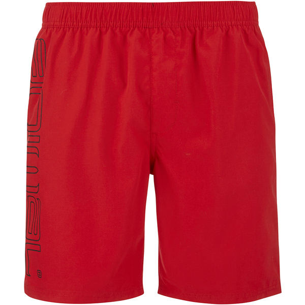 Animal Men's Belos Elasticated Waist Swim Shorts - Bright Red