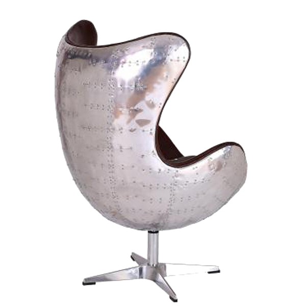 leather egg chair vintage aviator leather aluminium egg chair iwoot 16624 | 11173867 1784407605883774
