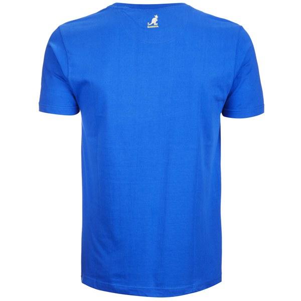 Kangol men 39 s lance print t shirt ocean blue clothing for Ocean blue t shirt