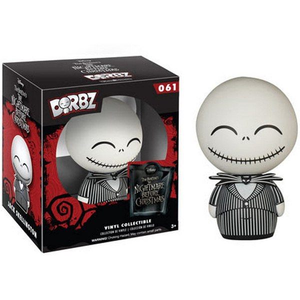 Disney Nightmare Before Christmas Jack Skellington Vinyl Sugar Dorbz Action Figure