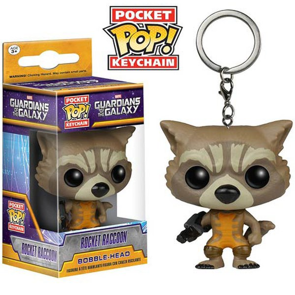 Marvel Guardians Of The Galaxy Rocket Raccoon Pocket Pop! Vinyl Key Chain