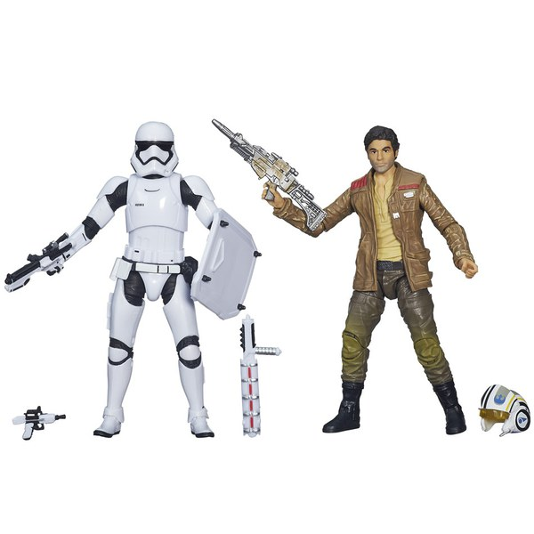 2 Figurines Stormtrooper et Poe Dameron Star Wars The Black Edition