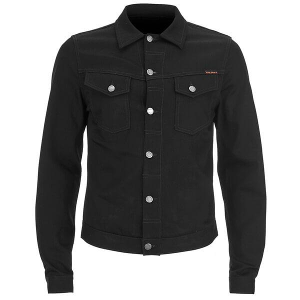 Nudie Jeans Men's Kenny Denim Jacket - Dry Black