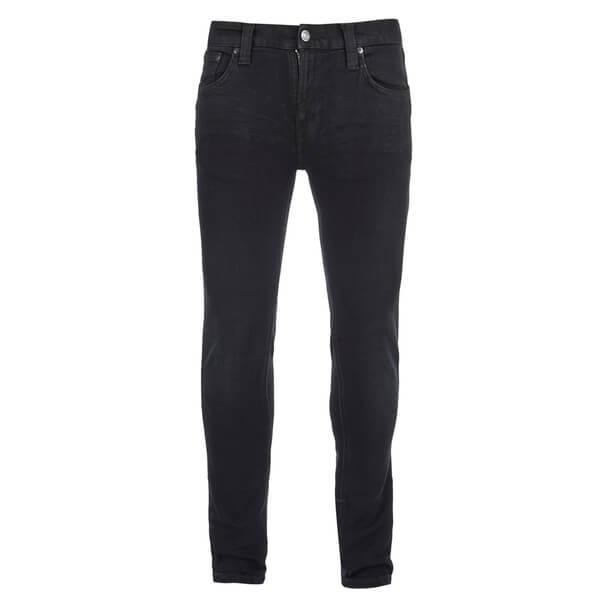 Nudie Jeans Men's Tight Long John Skinny Jeans - Black Heat