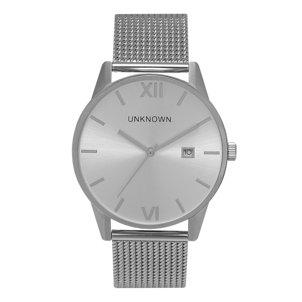 UNKNOWN Men's The Dandy Watch - Silver Mesh