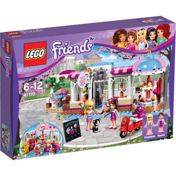 Lego friends heartlake cupcake caf 233 41119 toys thehut com