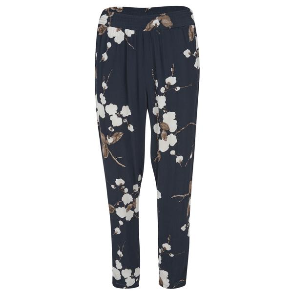 Ganni Women's Floral Trousers - Navy Japanese Flower
