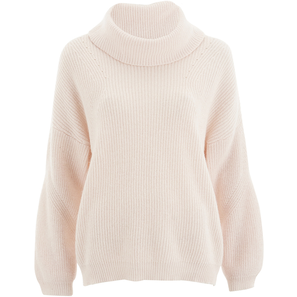 Selected Femme Women's Olinea Rollneck Knitted Pullover - Silver Peony