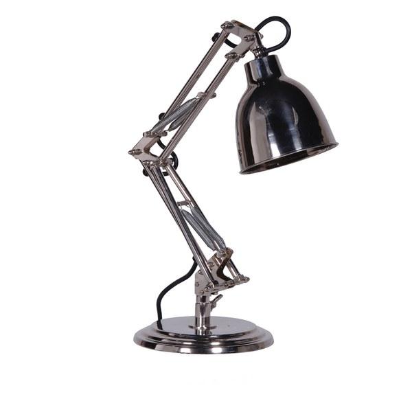 Bark & Blossom Nickel Desk Lamp