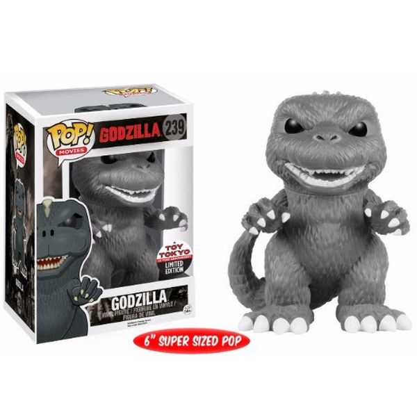 NYCC Godzilla Black and White Godzilla Exclusive 6 Inch Pop! Vinyl Figure