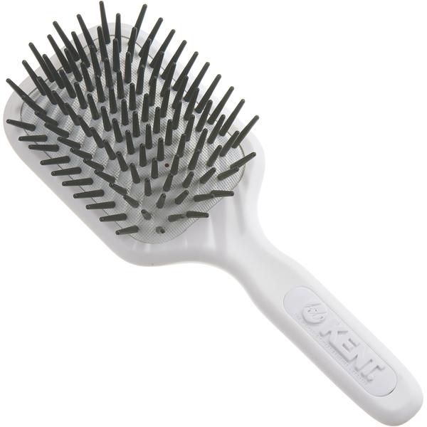AH8W AirHeadz Medium Fat Pin Cushioned Hair Brush de Kent - White